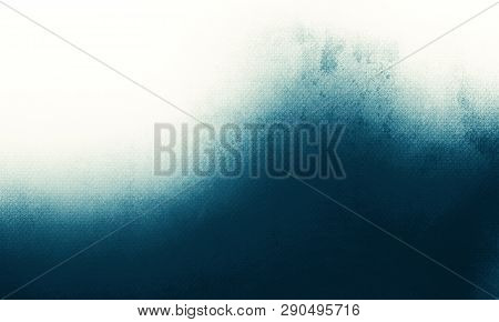 Abstract Luxury Blue Background, Old Blue Vignette Border Frame White Gray Background, Vintage Grung
