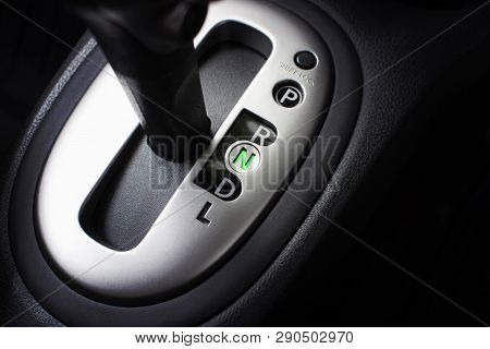 Put A Gear Stick Into N Position, (neutral) Symbol In Auto Transmission Car.