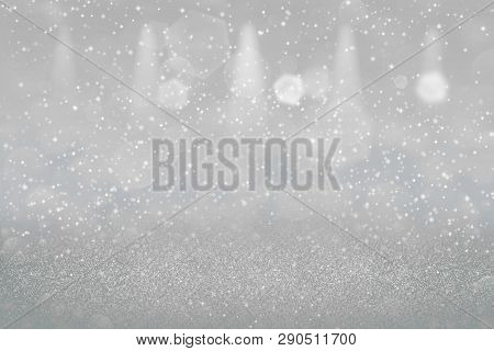 Fantastic Sparkling Abstract Background Stage Spotlights With Sparks Fly Defocused Bokeh - Festal Mo