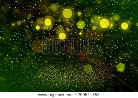 Beautiful Glossy Abstract Background Glitter Lights With Sparks Fly Defocused Bokeh - Festal Mockup