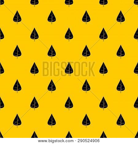 Poplar Leaf Pattern Seamless Vector Repeat Geometric Yellow For Any Design