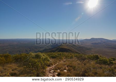 Hiking Trail To The Top Of Mount Sonder Just Outside Of Alice Springs, West Macdonnel National Park,