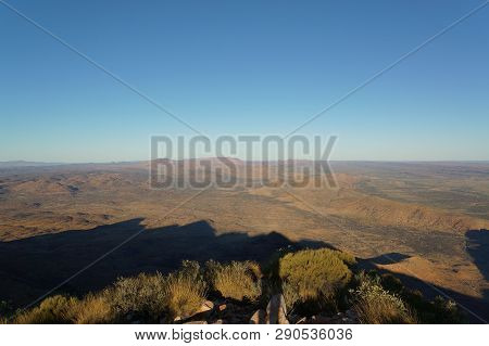 View From The The Top Of Mount Sonder Just Outside Of Alice Springs, West Macdonnel National Park, A