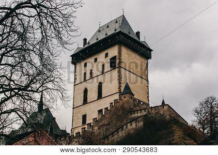 Royal Castle Karlstejn In In Central Bohemia, Czech Republic