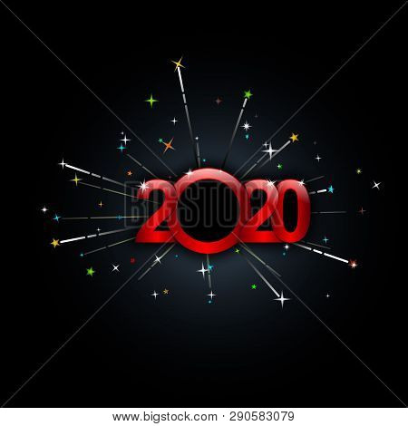 2020 Text, New Year 2020, 2020 New Years Image Firework, Happy New Year 2020, Red 2020, New Year 202