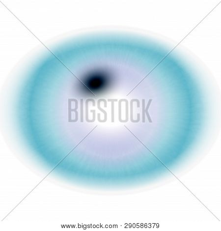 Illustration of roentgen photo. Isolated elliptic animal eye with large pupil and bright retina. poster