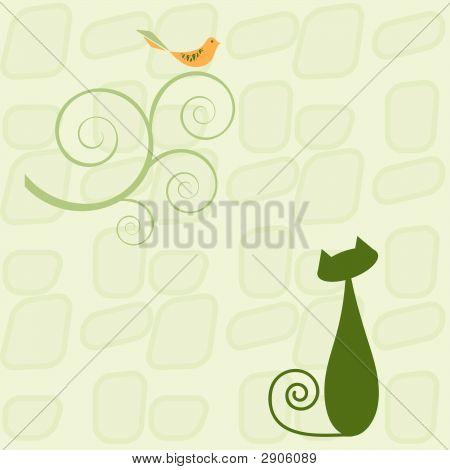 Bird And Cat
