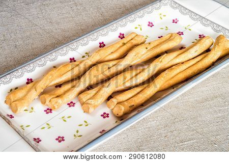 Italian Taralli With Fennel Seeds, Is Typical Apulian Snack.