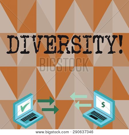 Conceptual Hand Writing Showing Diversity. Business Photo Text Being Composed Of Different Elements