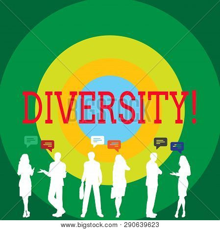 Conceptual Hand Writing Showing Diversity. Business Photo Showcasing Being Composed Of Different Ele