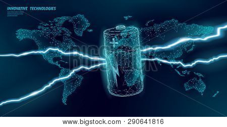 Electrical Alkaline Battery Global Problem Concept. Eco Environment Pollution Toxic Power Supply. Lo