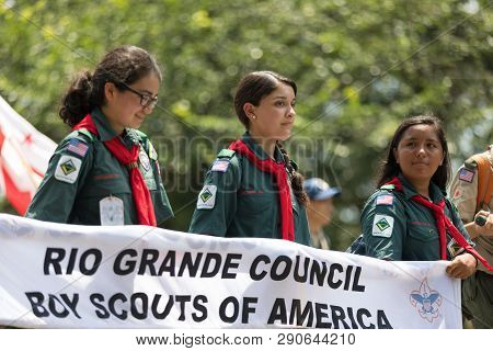 Washington, D.c., Usa - July 4, 2018, The National Independence Day Parade, Members Of The Rio Grand