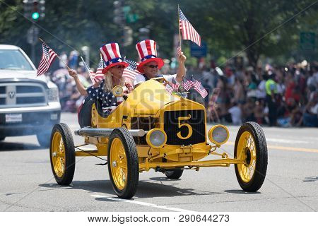Washington, D.c., Usa - July 4, 2018, The National Independence Day Parade, The Ford Model T Speedst