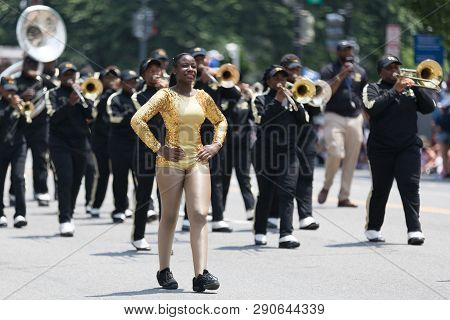 Washington, D.c., Usa - July 4, 2018, The National Independence Day Parade, The Twiggs County High S