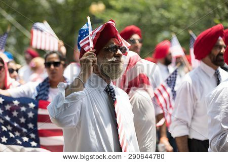 Washington, D.c., Usa - July 4, 2018, The National Independence Day Parade, The Sikhs Of America, Wa