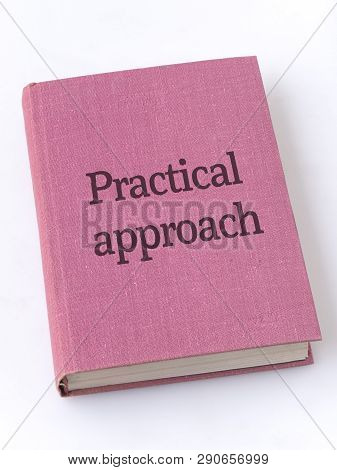 Practical Approach Phrase Printed On Textile Book Cover