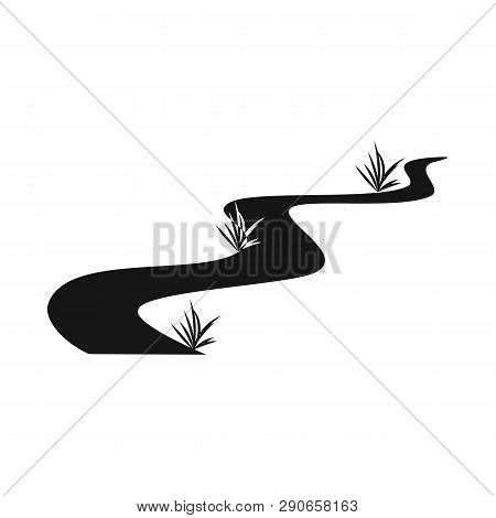 Vector Illustration Of Road And Scenery Sign. Set Of Road And Footpath Stock Vector Illustration.