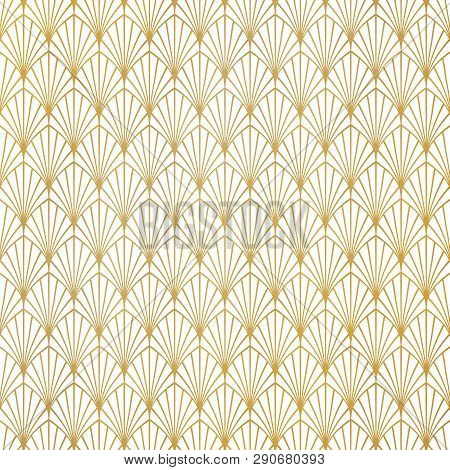 Abstract Gold Art Deco Pattern Luxury Design Background. You Can Use For Premium Background, Ad, Pos