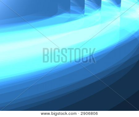 Optical Art Abstract Concentric Waves Blue Hues