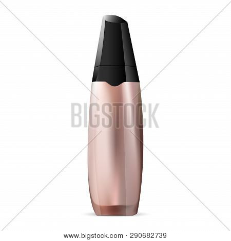 Foundation Cream. Makeup Concealer 3d Mockup. Bb Template Beauty Container. Luxury Premium Phial Ill