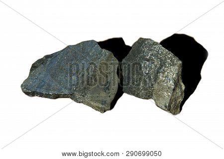 High Grade Nickel Ore Rock On White Background