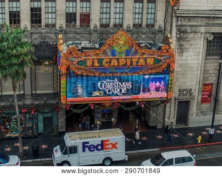 Hollywood, Los Angeles, C.a. - Circa 2012 - Hollywood Blvd. Gets Ready For Christmas!