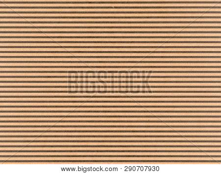 Brown Craft Paper With A Black Horizontal Stripes