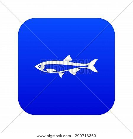 Herring Fish Icon Digital Blue For Any Design Isolated On White Vector Illustration