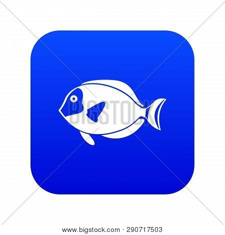 Surgeon Fish Icon Digital Blue For Any Design Isolated On White Vector Illustration