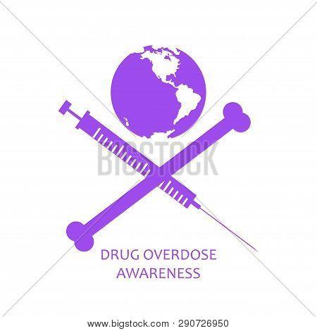 Drug Overdose Awareness Concept Jolly Roger Style