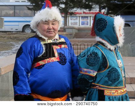 Ulan-ude, Russia, March 10, 2019: The Celebration Of The Maslenitsa Shrovetide In The City. Man And