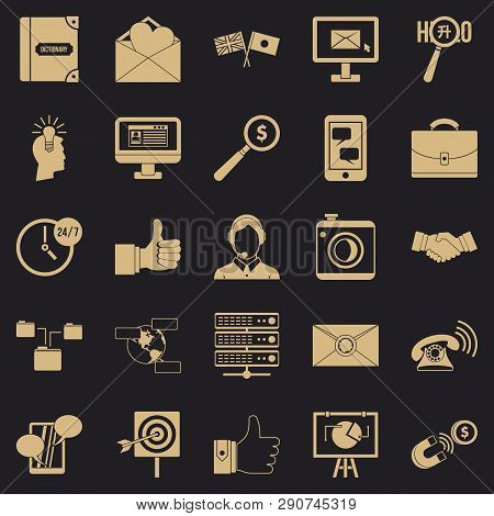 Interplay Icons Set. Simple Set Of 25 Interplay Vector Icons For Web For Any Design