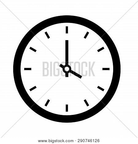 Clock Time Icon. Simple Illustration Of Clock Time Vector Icon For Web Site, Mobile, Logo, App, Ui.