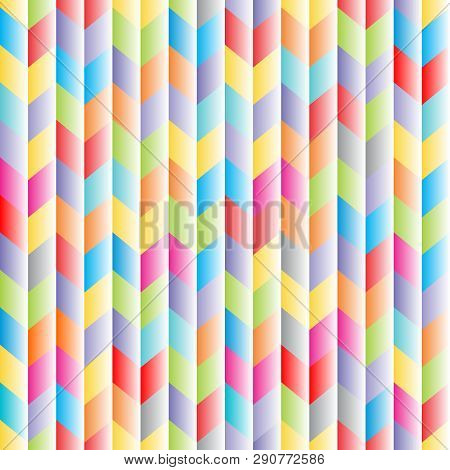 Abstract Seamless Background Pattern With Rhomboids. Vector Graphic 3d Illustration In Full Color.
