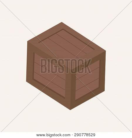 Wooden Box. Box. Cargo. Vector Illustration. Eps 10.