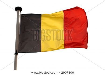 Isolated Belgian Flag With Clipping Path