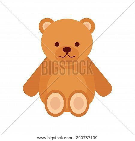 Teddy Bear. Toy Teddy Bear. Toy. White Background. Vector Illustration. Eps 10.