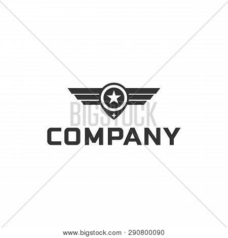 Wings Logo Abstract Design Vector Template Wings Logo. Aircraft Wings Logo Icon. Modern Heraldic Win