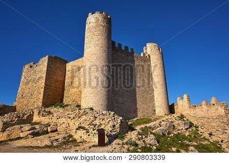 Xivert castle in Alcala de Chivert of Castellon Templarios of Spain twin towers