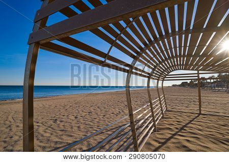 Cristall Cristal beach playa in Miami Platja of Tarragona at costa Dorada of Catalonia