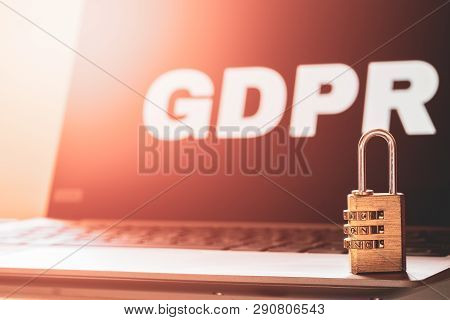 Gdpr General Data Protection Regulation Business Internet Technology Concept. Gdpr Background With A