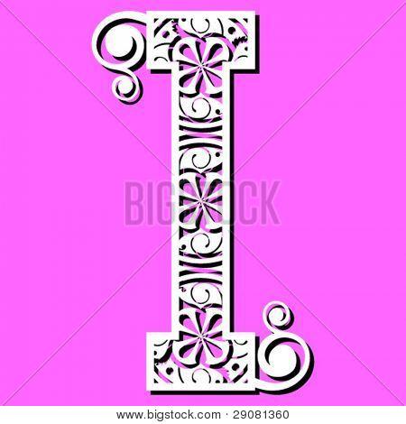 openwork alphabet, letter I