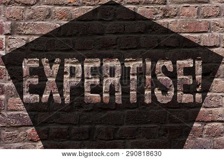 Handwriting Text Expertise. Concept Meaning Expert Skill Or Knowledge In A Particular Field Experien