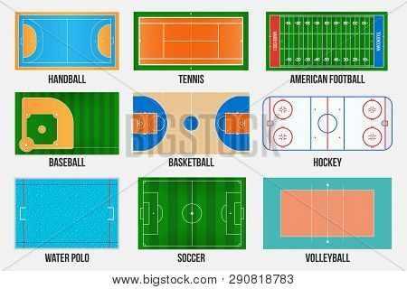 Creative Vector Illustration Of Sport Game Fields Marking Isolated On Background. Graphic Element Fo