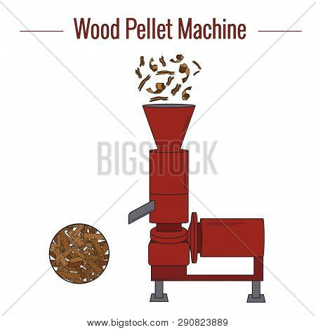 Machine For The Production Of Wood Pellets Used For Processing (pressing) Wood Waste For The Product