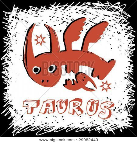 scribble sign of the zodiac taurus