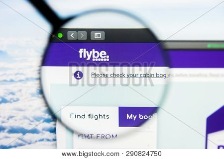 Los Angeles, California, Usa - 21 March 2019: Illustrative Editorial Of Flybe Website Homepage. Flyb