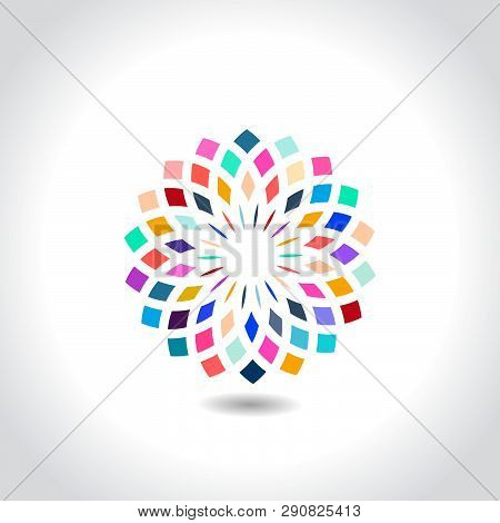 Modern Mandala Design Vector Image With Color Combination