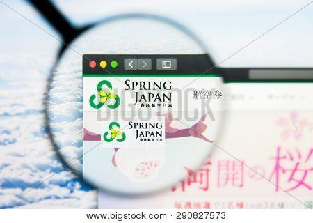 Los Angeles, California, Usa - 21 March 2019: Illustrative Editorial Of Spring Japan Website Homepag