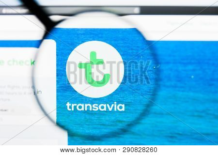 Los Angeles, California, Usa - 21 March 2019: Illustrative Editorial Of Transavia Airlines Website H